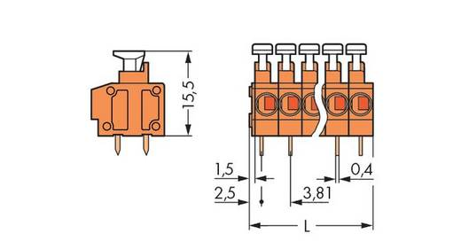 Federkraftklemmblock 1.50 mm² Polzahl 5 235-105 WAGO Orange 220 St.