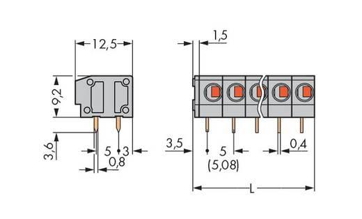 Federkraftklemmblock 1.50 mm² Polzahl 16 WAGO Grau 60 St.