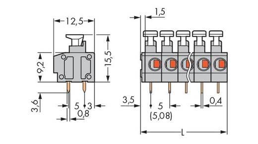 Federkraftklemmblock 0.75 mm² Polzahl 10 WAGO Grau 80 St.