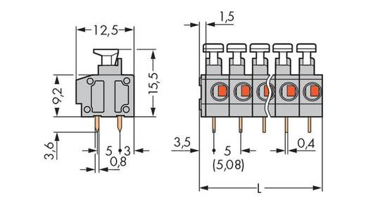 Federkraftklemmblock 0.75 mm² Polzahl 8 235-408/332-000 WAGO Grau 100 St.
