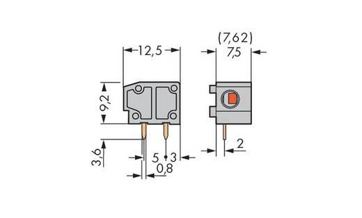 Federkraftklemmblock 1.50 mm² Polzahl 1 235-501 WAGO Grau 600 St.