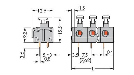 Federkraftklemmblock 0.75 mm² Polzahl 3 WAGO Grau 200 St.