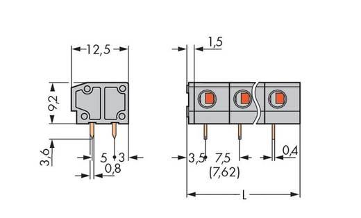 Federkraftklemmblock 1.50 mm² Polzahl 4 235-504 WAGO Grau 140 St.