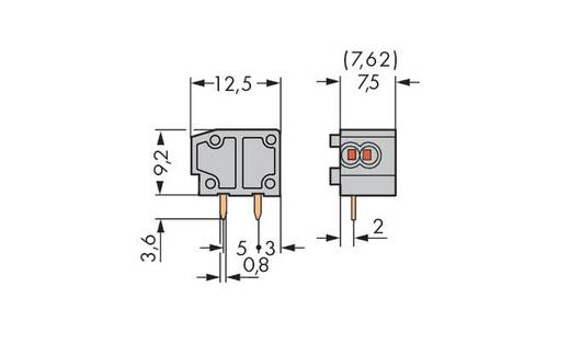 Federkraftklemmblock 0.34 mm² Polzahl 1 235-726 WAGO Orange 600 St.