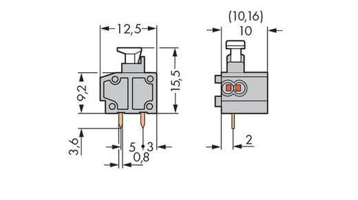 Federkraftklemmblock 0.34 mm² Polzahl 1 WAGO Grau 400 St.