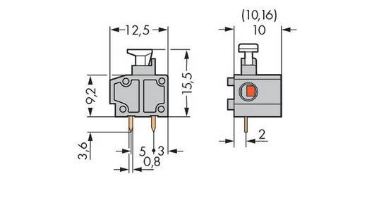Federkraftklemmblock 0.75 mm² Polzahl 1 235-766/331-000 WAGO Orange 400 St.