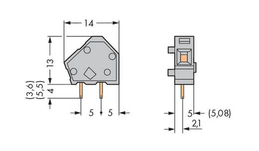 Federkraftklemmblock 2.50 mm² Polzahl 1 WAGO Lichtgrau 600 St.