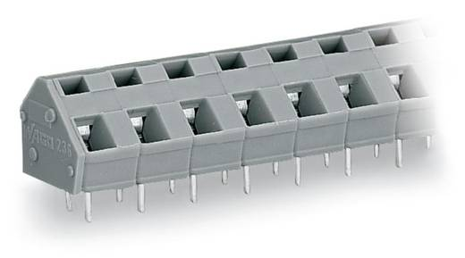 Federkraftklemmblock 2.50 mm² Polzahl 16 WAGO Licht-Grau 40 St.