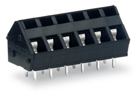 Federkraftklemmblock 2.50 mm² Polzahl 6 WAGO Schwarz 140 St.