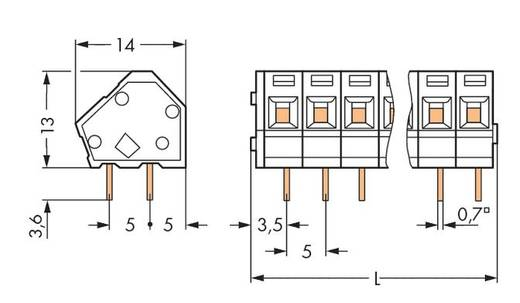 Federkraftklemmblock 2.50 mm² Polzahl 5 236-405/334-604 WAGO Schwarz 180 St.