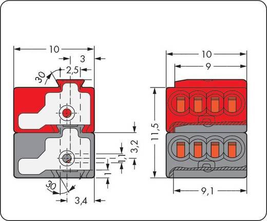 Dosenklemme flexibel: - starr: 0.28-0.5 mm² Polzahl: 8 WAGO 243-211 500 St. Dunkel-Grau, Rot