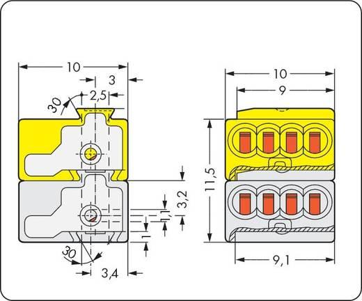 Dosenklemme flexibel: - starr: 0.28-0.5 mm² Polzahl: 8 WAGO 243-212 500 St. Licht-Grau, Gelb