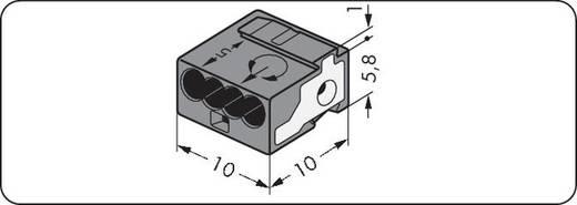 Verbindungsklemme flexibel: - starr: 0.28-0.5 mm² Polzahl: 4 WAGO 243-214 400 St. Dunkel-Grau