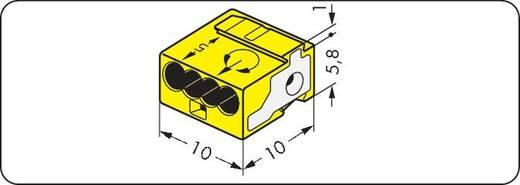 Verbindungsklemme flexibel: - starr: 0.28-0.5 mm² Polzahl: 4 WAGO 243-514 400 St. Gelb