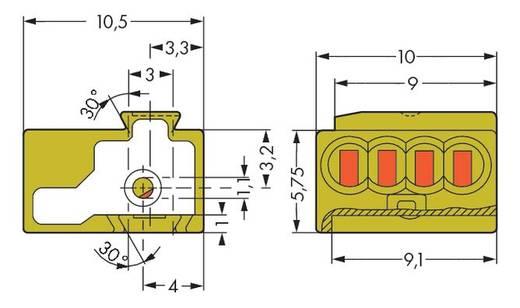 Dosenklemme flexibel: - starr: 0.28-0.5 mm² Polzahl: 4 WAGO 243-744 50 St. Hellgrün