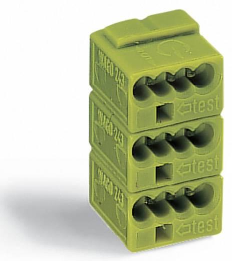 Dosenklemme flexibel: - starr: 0.28-0.5 mm² Polzahl: 3 WAGO 243-743 50 St. Hellgrün