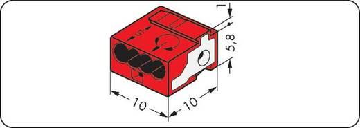 Dosenklemme flexibel: - starr: 0.28-0.5 mm² Polzahl: 4 WAGO 243-814 400 St. Rot