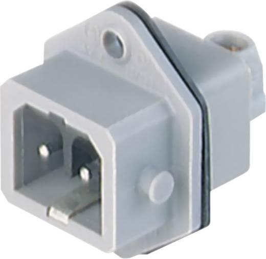 Netz-Steckverbinder Serie (Netzsteckverbinder) STASEI Stecker, Einbau vertikal Gesamtpolzahl: 2 + PE 16 A Grau Hirschma