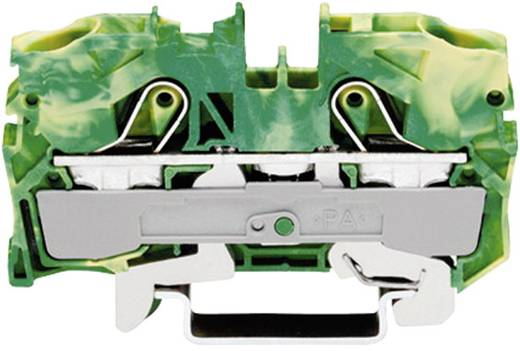 Schutzleiterklemme 10 mm Zugfeder Belegung: PE Grün-Gelb WAGO 2010-1207 1 St.