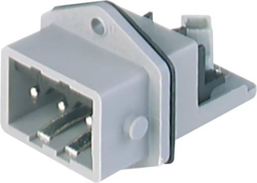 Netz-Steckverbinder Serie (Netzsteckverbinder) STASEI Stecker, Einbau vertikal Gesamtpolzahl: 3 + PE 16 A Grau Hirschma