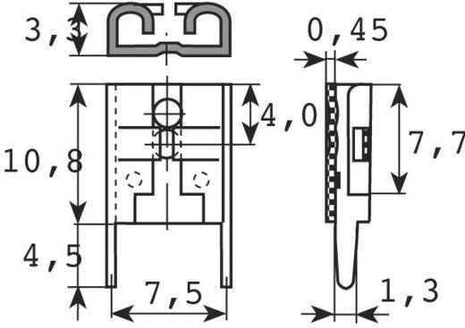 Flachsteckhülse zum Einlöten in gedruckte Schaltungen Steckbreite: 6.3 mm Steckdicke: 0.8 mm 180 ° Unisoliert Metall Vogt Verbindungstechnik 3867F.68 1 St.