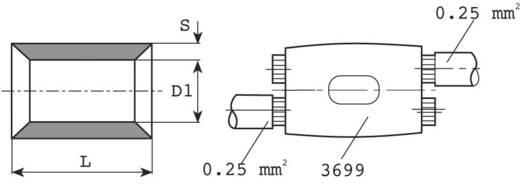 Parallelverbinder 0.5 mm² 1 mm² Unisoliert Metall Vogt Verbindungstechnik 3700K 1 St.