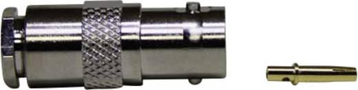 BNC-Steckverbinder Buchse, gerade 75 Ω 1 St.