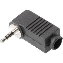 Jack konektor 2.5 mm stereo zástrčka, zahnutá BKL Electronic 1107016, pinov 4, čierna, 1 ks