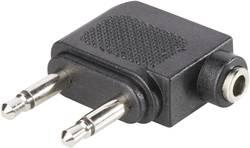 Adaptateur Y BKL Electronic 1102031 [1x Jack femelle 3.5 mm - 2x Jack mâle 3.5 mm] 0 m noir