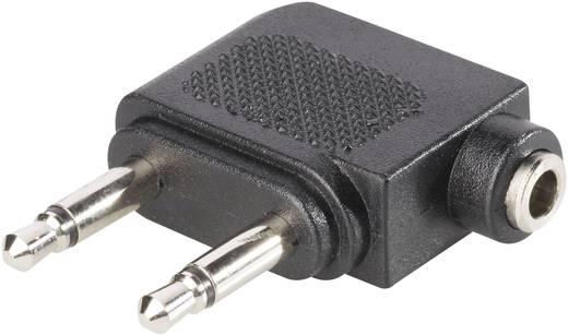 Klinke Audio Flugzeug-Adapter [1x Klinkenbuchse 3.5 mm - 2x Klinkenbuchse 3.5 mm] Schwarz BKL Electronic