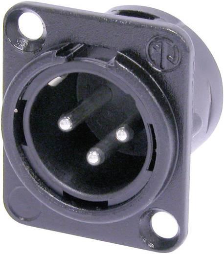 XLR-Steckverbinder Flanschstecker, Kontakte gerade Polzahl: 3 Schwarz Neutrik NC3MDL1BAG 1 St.
