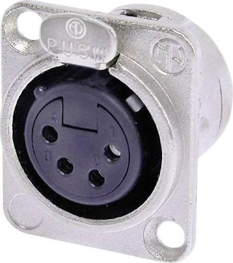 XLR-Steckverbinder Flanschbuchse, Kontakte gerade Polzahl: 4 Silber Neutrik NC4FD-L-1 1 St.