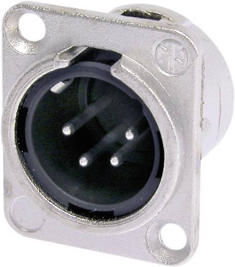 XLR-Steckverbinder Flanschstecker, Kontakte gerade Polzahl: 4 Silber Neutrik NC4MDL1 1 St.