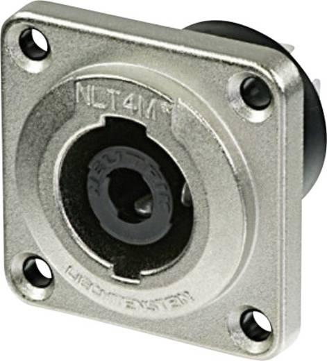 Lautsprecher-Steckverbinder Flanschbuchse, Kontakte gerade Polzahl: 4 Silber Neutrik NLT4MP 1 St.