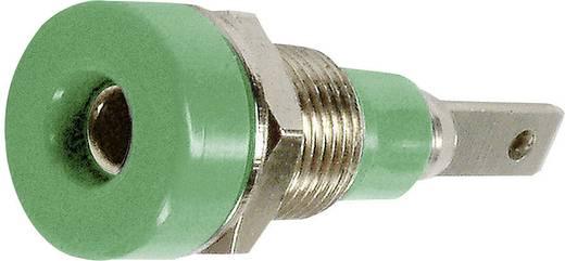Laborbuchse Buchse, Einbau vertikal Stift-Ø: 2 mm Grün Stäubli LB-I2R 1 St.