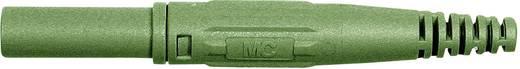 Laborstecker Stecker, gerade Stift-Ø: 4 mm Grün MultiContact XL-410 1 St.
