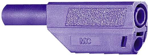 Lamellenstecker Stecker, gerade Stift-Ø: 4 mm Violett MultiContact SLS425-SE/Q/N 1 St.