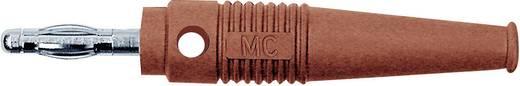 Lamellenstecker Stecker, gerade Stift-Ø: 4 mm Rot MultiContact L-41Q 1 St.