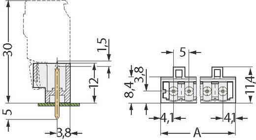 WAGO 721-132/001-000 Stiftgehäuse-Platine 721 Polzahl Gesamt 2 Rastermaß: 5 mm 1 St.