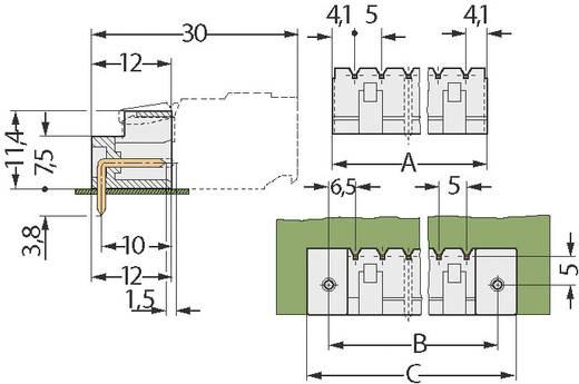 WAGO Stiftgehäuse-Platine 721 Polzahl Gesamt 2 Rastermaß: 5 mm 721-432/001-000 1 St.