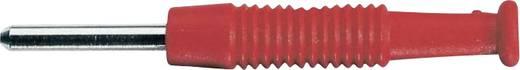 Miniatur-Bananenstecker Stecker, gerade Stift-Ø: 2 mm Rot SKS Hirschmann MST 3 1 St.