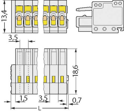 WAGO 733-102 Buchsengehäuse-Kabel 733 Polzahl Gesamt 2 Rastermaß: 2.50 mm 1 St.