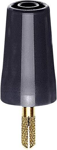 Übergangsstecker Stecker 4 mm - Buchse 4 mm Schwarz MultiContact A-SLK4 1 St.