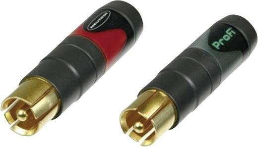 Cinch-Steckverbinder Stecker, gerade Polzahl: 2 Schwarz, Rot Neutrik NF2CB2 2 St.