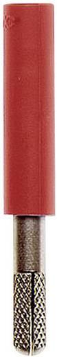 Übergangsstecker Stecker 4 mm - Buchse 4 mm Rot MultiContact A-SLK4-S 1 St.