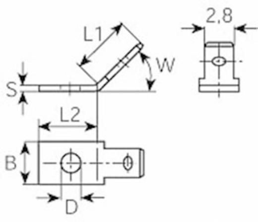 Steckzunge Steckbreite: 2.8 mm Steckdicke: 0.8 mm 60 ° Unisoliert Metall Vogt Verbindungstechnik 3777.67 1 St.