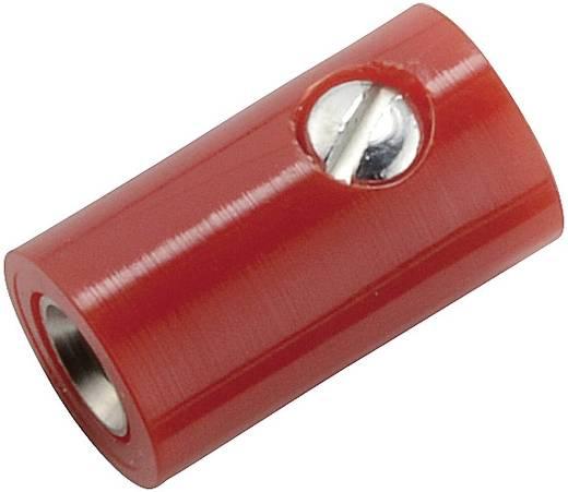 Miniatur-Laborbuchse Buchse, gerade Stift-Ø: 2.6 mm Rot 1 St.