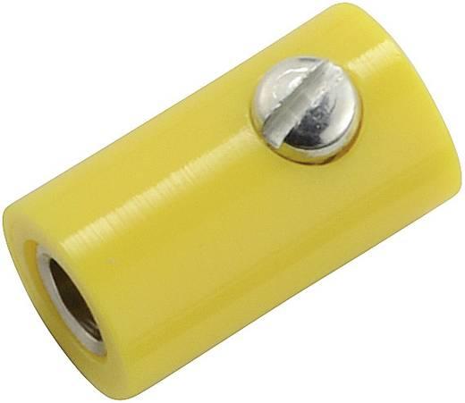 Miniatur-Laborbuchse Buchse, gerade Stift-Ø: 2.6 mm Gelb 1 St.