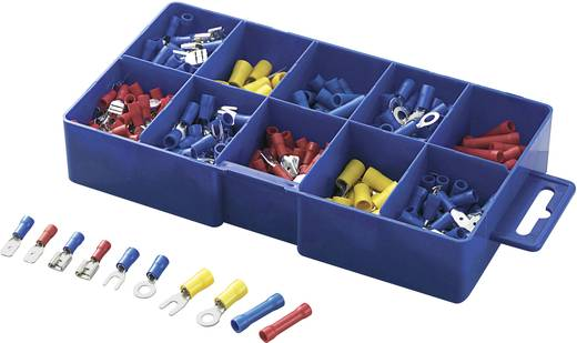 Quetschverbinder-Sortiment 0.5 mm² 2.5 mm² Blau, Gelb, Rot Conrad Components 93013c144 450 St.