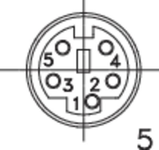 Miniatur-DIN-Rundsteckverbinder Buchse, gerade Polzahl: 5 Schwarz BKL Electronic 204011 1 St.